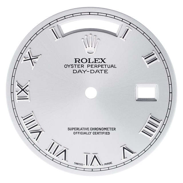 Rolex Day-date silver roman numeral dial image 1