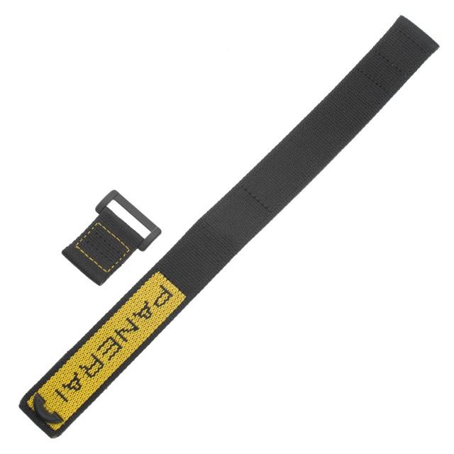 Panerai black and yellow nylon strap (24mm x 24mm) image 1
