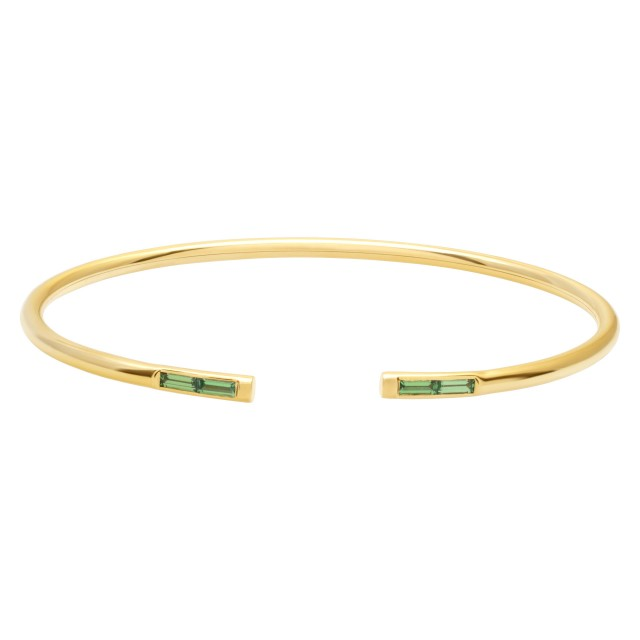 Tiffany & Co wire Peridot Bangle in 18k yellow gold image 1