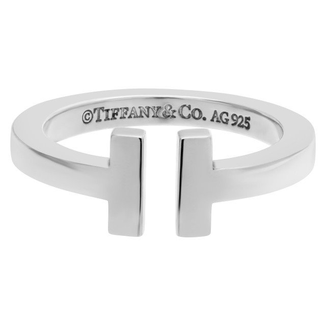 Tiffany and Co. T square ring in sterling silver image 1
