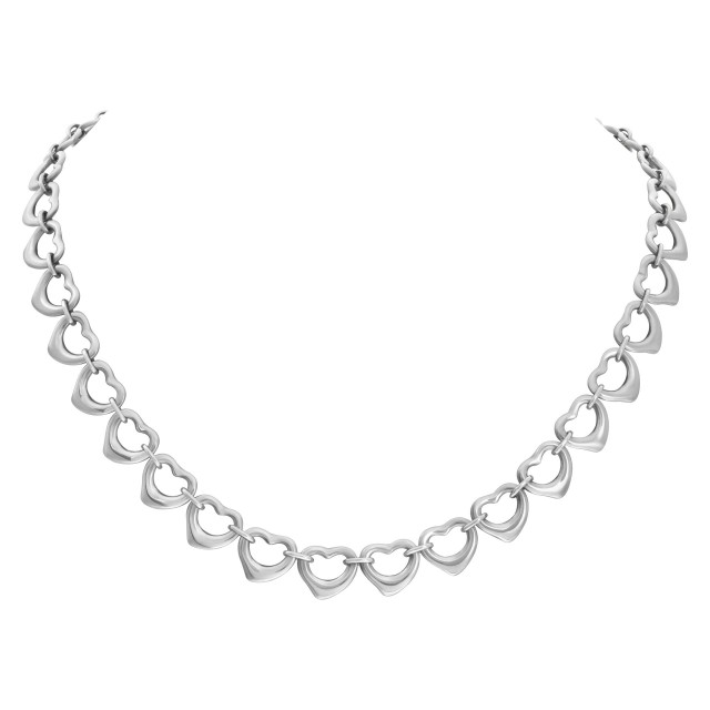 Tiffany & Co. heart style necklace in sterling silver image 1