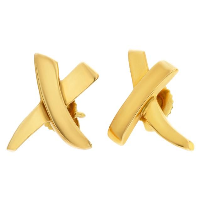 Tiffany & Co. Paloma Picasso 18k graffiti X earrings image 1