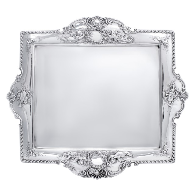 Tiffany & Co sterling silver tray in the Richelieu pattern. Circa 1892- image 1
