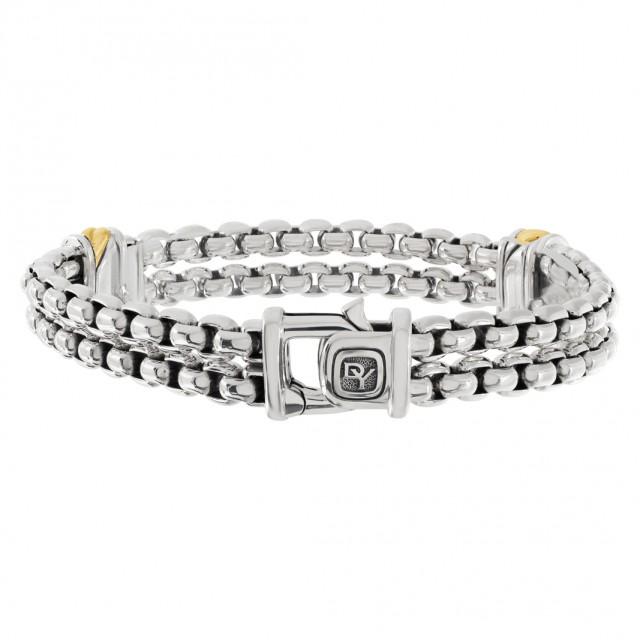 David Yurman bracelet in 18k & sterling silver image 1