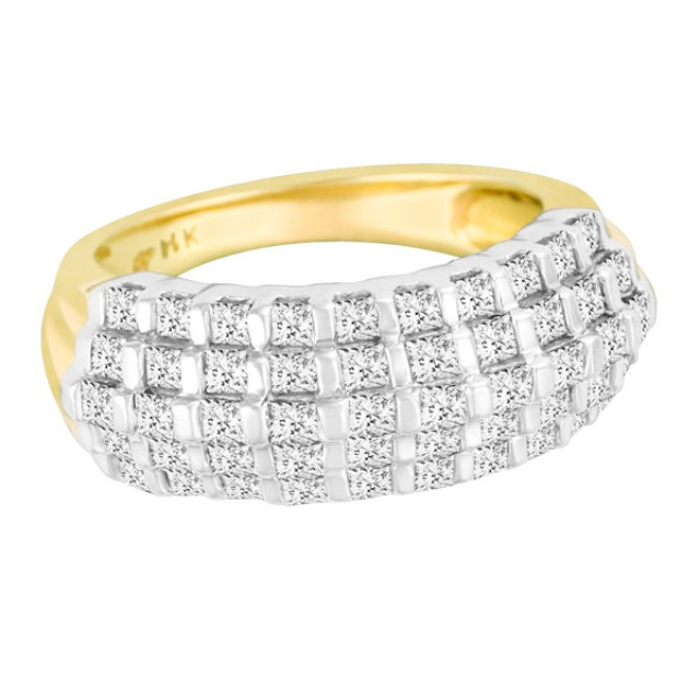 Pretty princess-cut diamond ring in 14k image 1