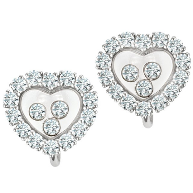 Chopard Happy Diamonds heart earrings image 1