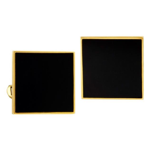 Sylish & elegant onyx stone cufflinks in 14k image 1