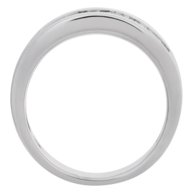 Princess Cut Diamond ring set in 18k white gold. 0.75cts in diamonds. Size 6.25 image 4