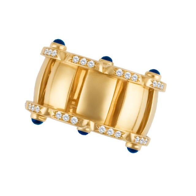 Patek Philippe Twenty-4 Ring 18k rose gold with diamonds & 6 cabochon sapphires. image 1