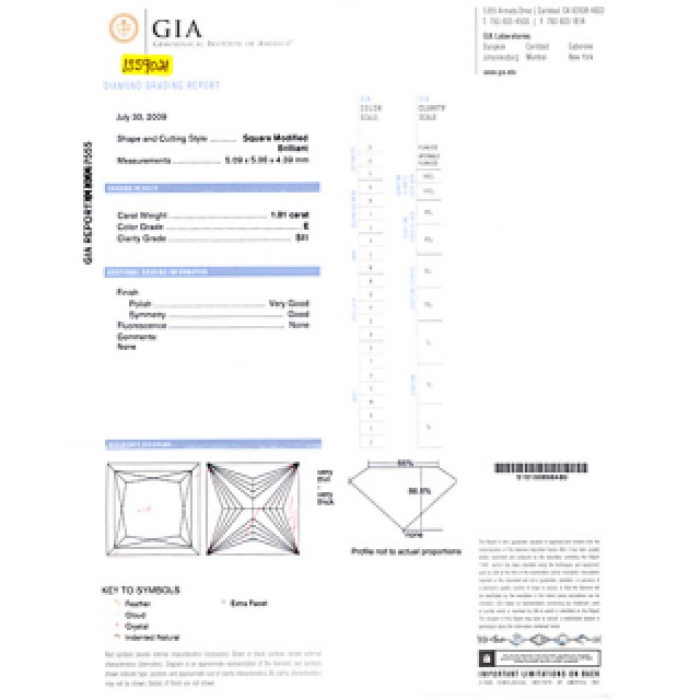 GIA certified square diamond 1.01 cts (E Color, SI1 Clarity) ring set in 14k white gold with diamond and amythest accents. image 5