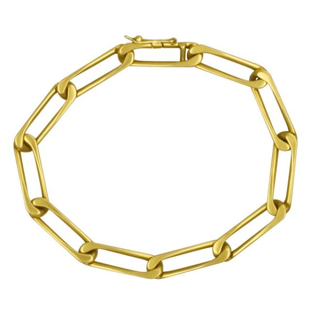 """Vintage Cartier link bracelet in 18k; 7.5"""" long image 1"""