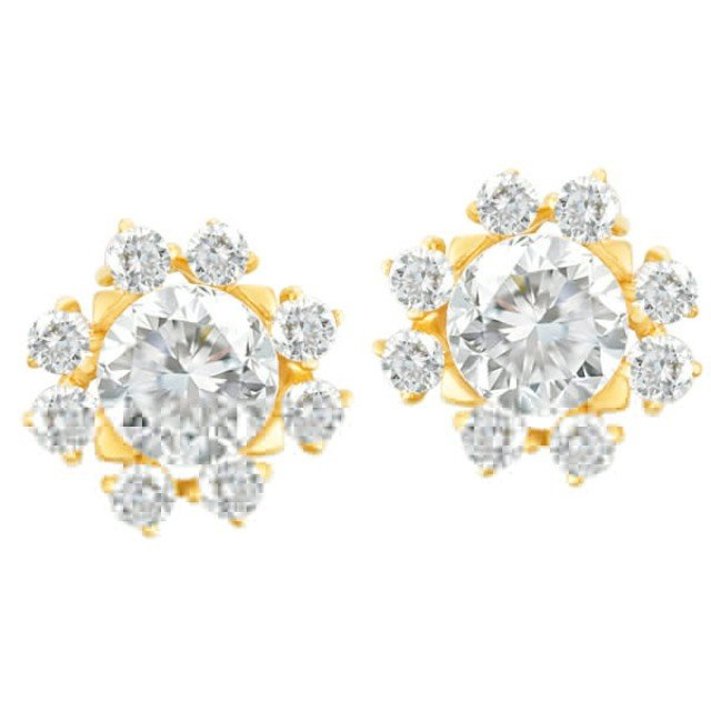 GIA Certified Diamond Earrings 1 ct (F Color, VS1 Clarity) 1 ct (F, VS2) image 1