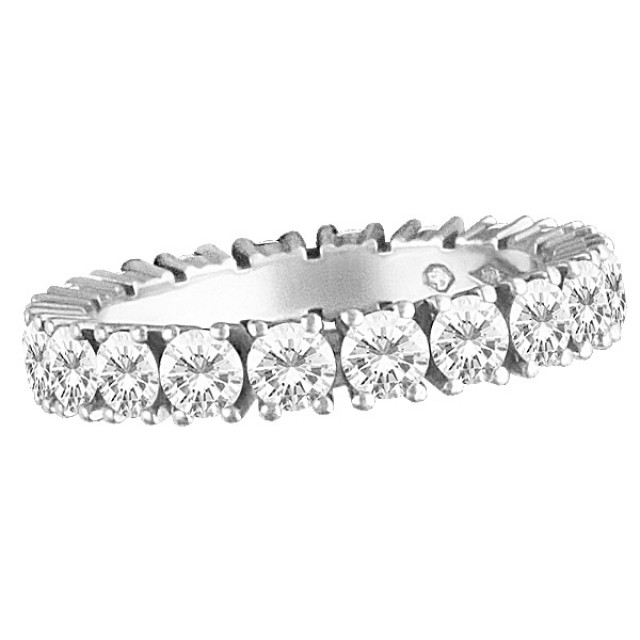 Cartier Diamond Eternity Band and Ring in platinum with 1.46 carats in diamonds image 1