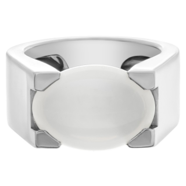 Cartier cabochon moonstone ring in 18k white gold. image 2