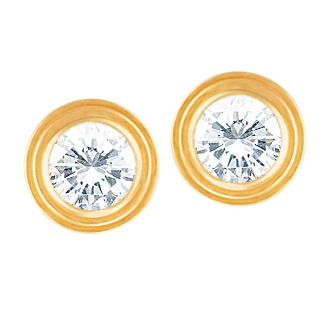 "Serial Earrings: CARTIER ""DIAMONDS LÉGERS MM"" STUDS EARRINGS- SERIAL PC7535"