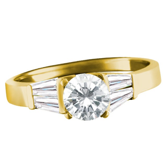 GIA Certified Diamond 1.07 cts (G color, I1 Clarity). Set in 18k white gold stud. image 1