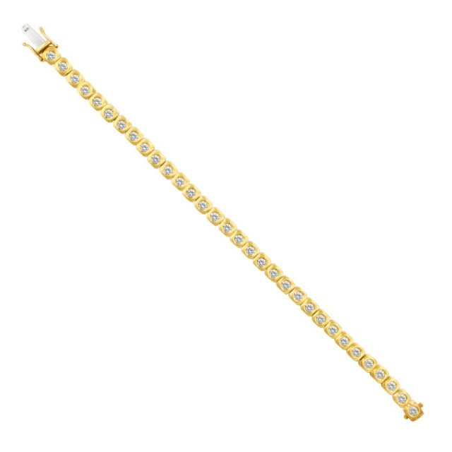 "Diamond bracelet in 18k with over 3 carats in diamonds. 7"" long image 1"