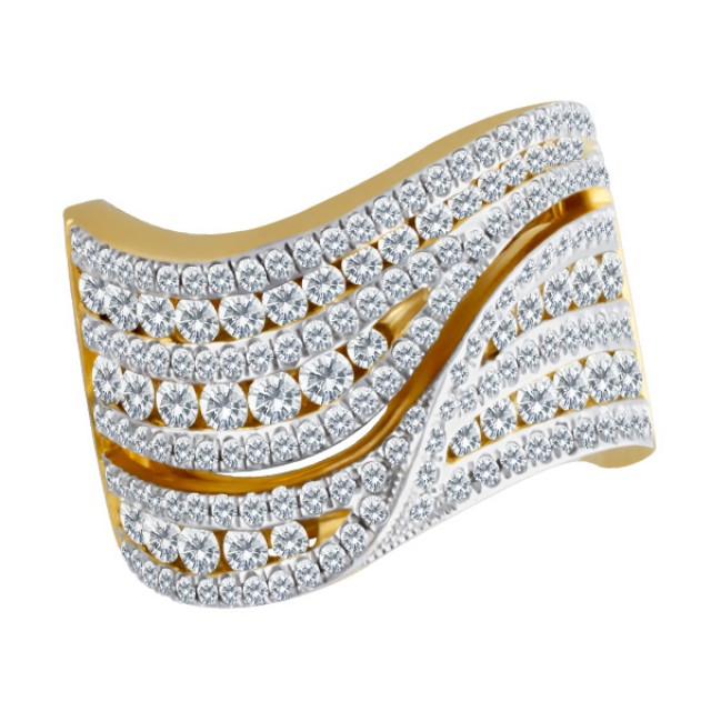 18k gold and diamond ring. image 1