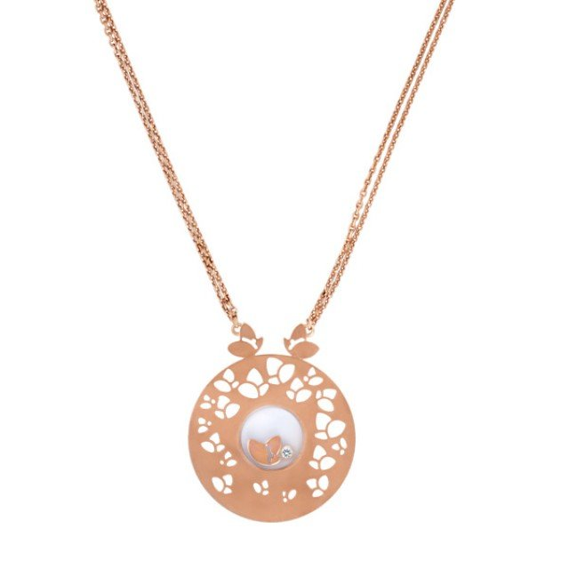 Chopard Happy Diamond necklace in 18k rose gold image 1