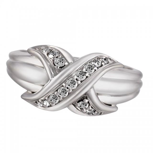 Tiffany & Co diamond ring 18k white gold image 1
