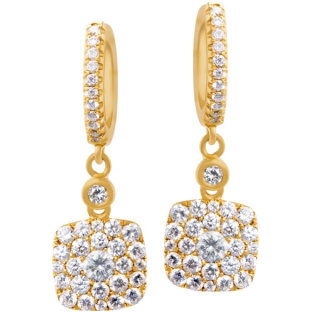 18k gold  and diamond earings image 1