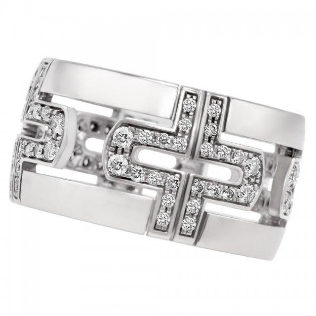 Bvlgari Parentesi Demi ring in 18k white gold image 1