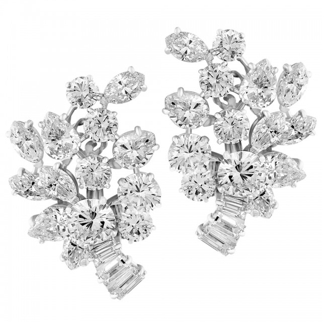 Graff Diamond Earring With Round Marquise Pear And Baguettes With app 9 Cts In Diamonds image 1