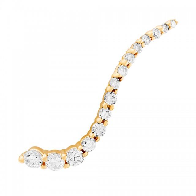 Diamond ear climber earring in 18k yellow gold image 1