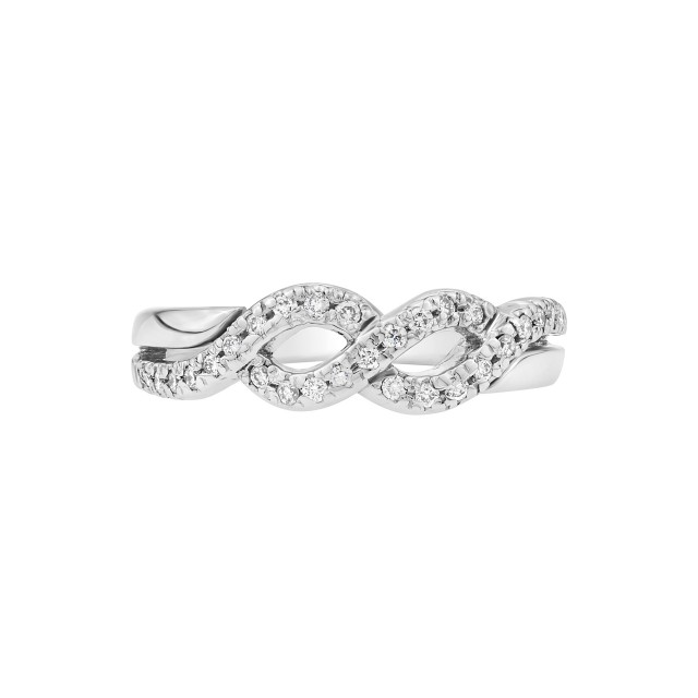 Infinity diamond ring in 18K image 1