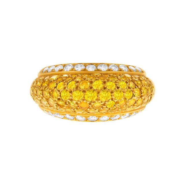 Van Cleef & Arpels domed fancy diamond ring in 18k. 3 carats image 1