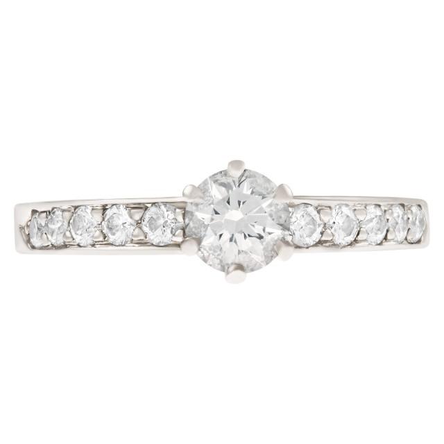 Tiffany & Co platinum ring with diamonds image 1