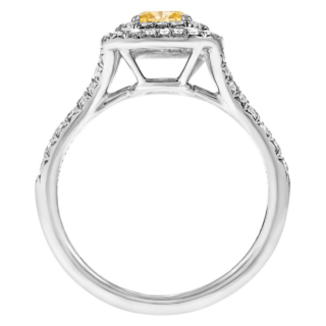 Tiffany & Co. Soleste fancy yellow diamond ring image 2