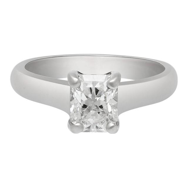 Tiffany Co Platinum Lucida 2mm Wedding Band Ring Sz 8: Tiffany & Co Lucida Engagement Ring 1.03 Ct Set In