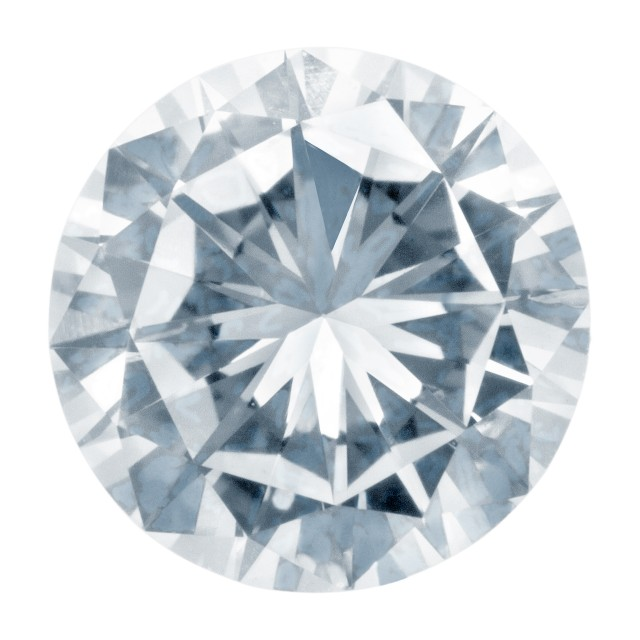 GIA Certified Round cut diamond. 0.56 carats (H Color, I1 Clarity) image 1