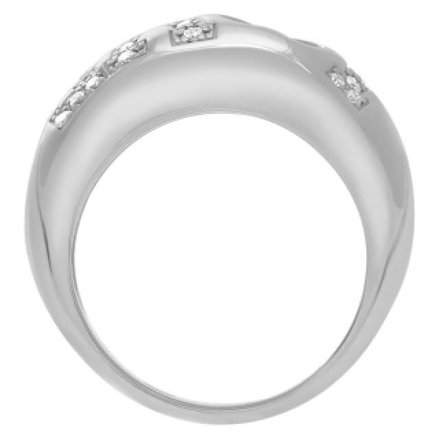 "Chopard 18k white gold ""LOVE"" ring with pave diamonds on ""LOVE"". Size 5 image 3"