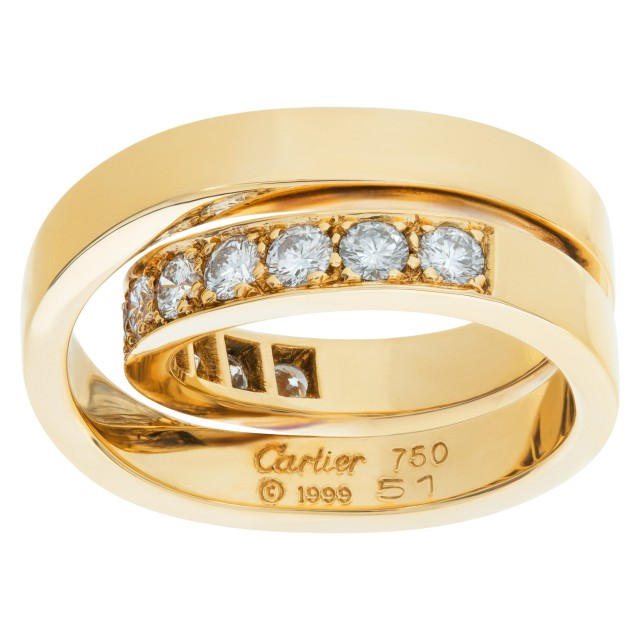Cartier Nouvelle Vague Crossover diamond ring in 18k. 1.10 carats in diamonds image 1