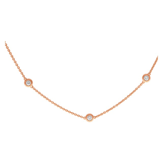 Diamonds by the yard 14k rose gold 2.25 cts in diamonds image 1