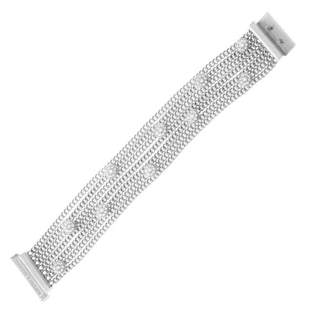 Aspery & Guldag bracelet in 18k white gold with diamond bubbles image 1