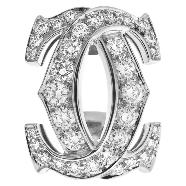 Only one! Single Cartier earring with 0.84 carats in diamond in 18k white gold. image 1