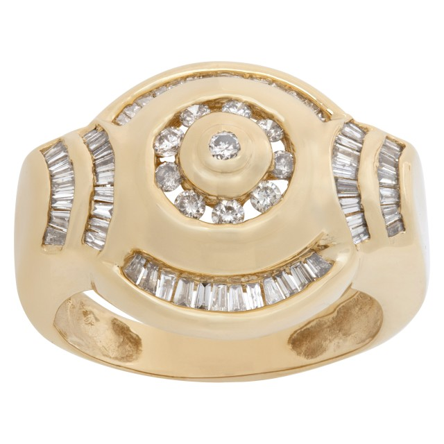 diamond ring in 14k with approx. 0.80 cts in diamonds image 1