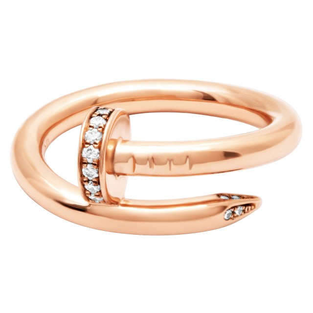 a27f590e366a6 Cartier Juste Un Clou ring with diamond accents in 18k rose gold
