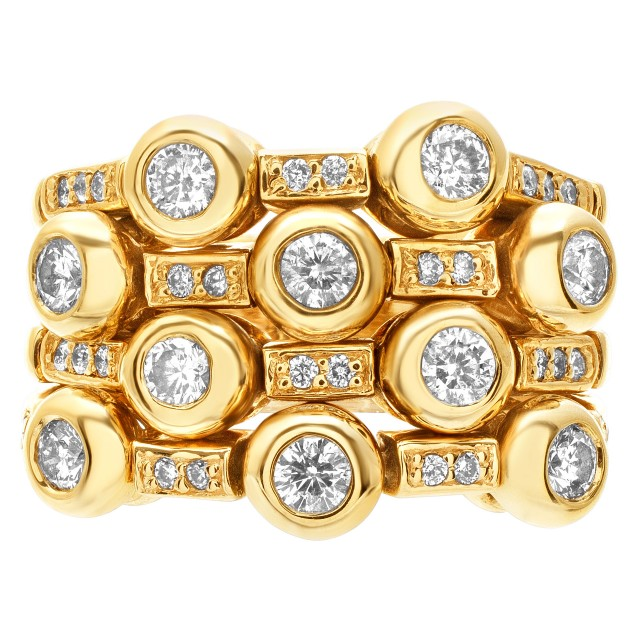 Flexible diamond ring with over 1.0 ct in diamonds set in 14k gold image 1