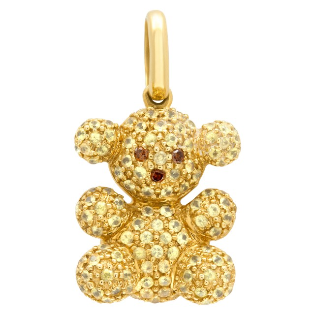 """TOUS"" yellow diamond bubble bear pendant in 18k yellow gold image 1"
