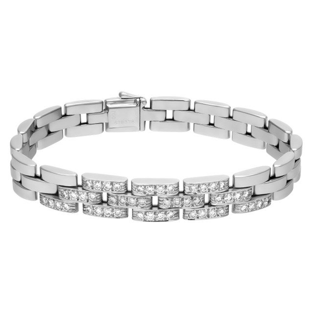 Cartier Panthere bracelet in 18k white gold with 1.20 ct. in diamonds image 1