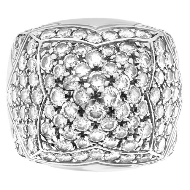 "Bvlgari ""Pyramide"" ring in 18k white gold with  pave diamonds image 1"