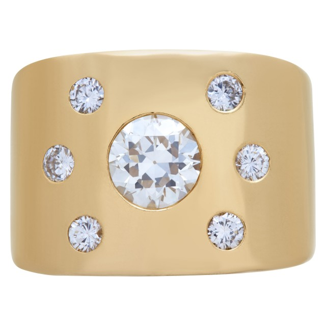 Diamond ring in 14k gold, center 1.0 carat, total 1.42 carats. image 1