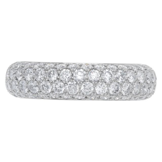 Tiffany & Co platinum and diamond eternity band, 2.60 carats image 1