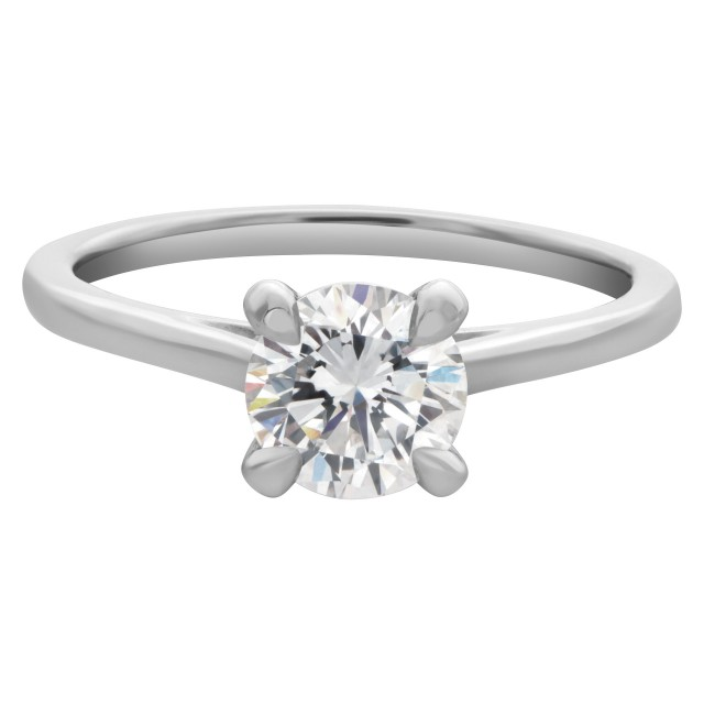 GIA certified round brilliant cut 1.01 carat  (E color, IF clarity) image 1