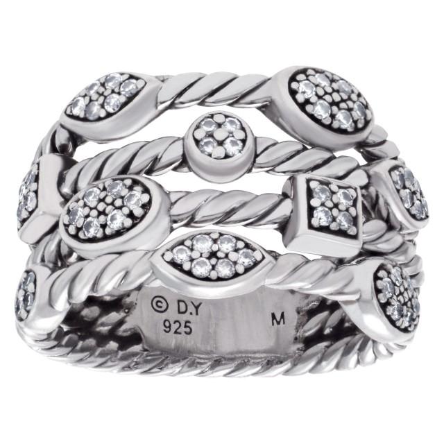 "David Yurman ""Confetti"" ring with diamond accents image 1"