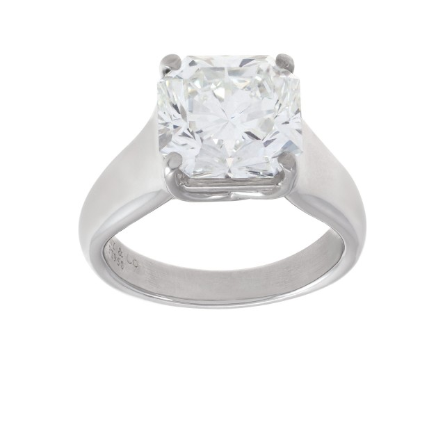 "Tiffany & Co. ""Lucida"" 4.30 carat F color VS clarity diamond ring in platinum image 1"